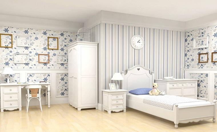 chambre à coucher-enfant-blanc-plancher-bois-couleur-claire