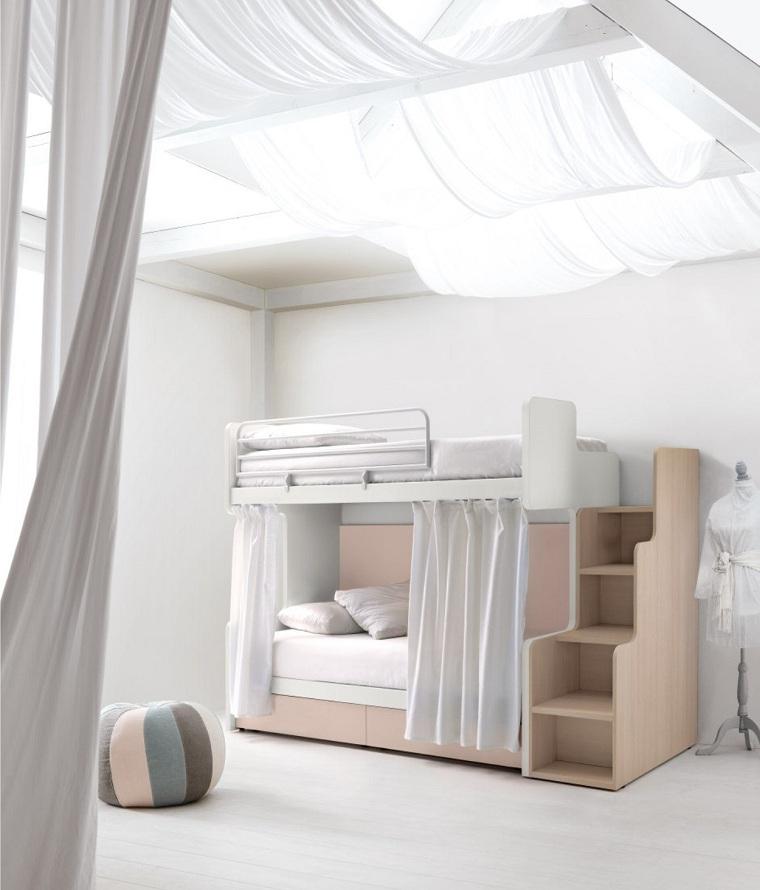 chambre à coucher-enfants-idées-château-lit-forme