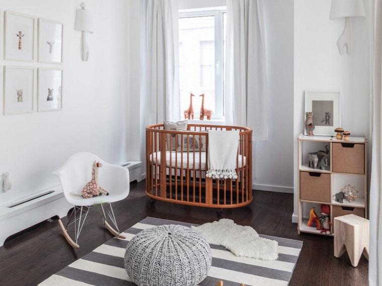chambre à coucher-enfants-idées-berceau-bois