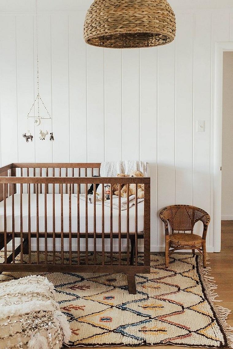 chambre à coucher-enfants-idées-style-scandinave