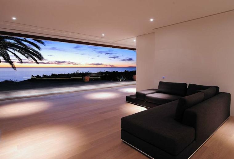intérieurs minimalistes, modernes et élégants