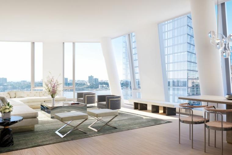 Intérieurs de maisons minimalistes-élégantes