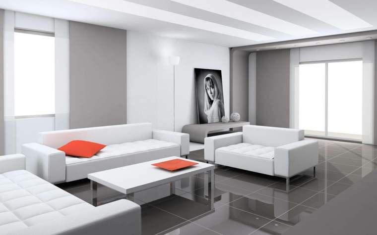 chambres minimalistes-modernes-blanches