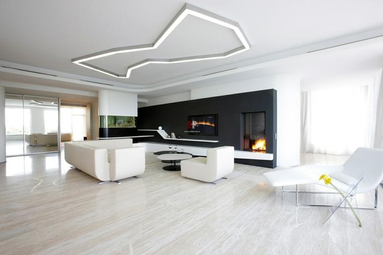 Intérieurs de maisons minimalistes et modernes