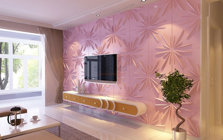 décoration des chambres-moderne-rose