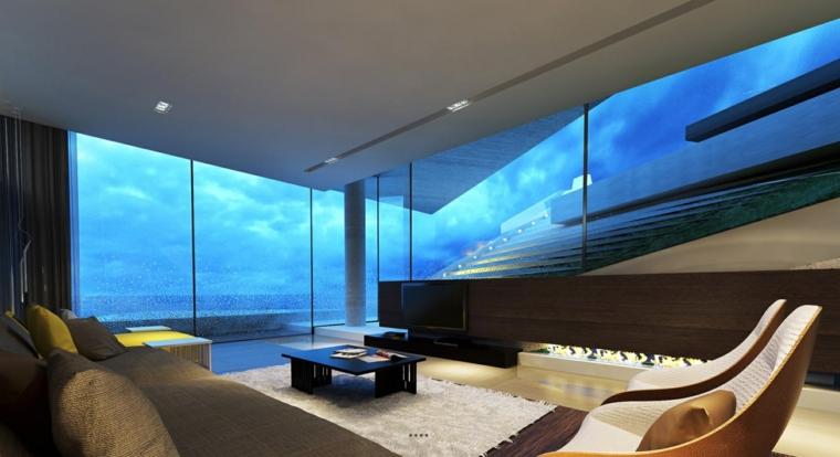 murs modernes en verre