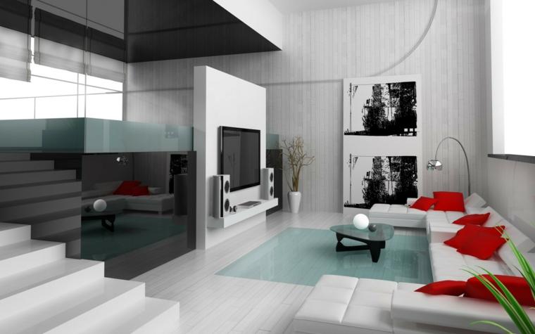chambres modernes aux accents rouges