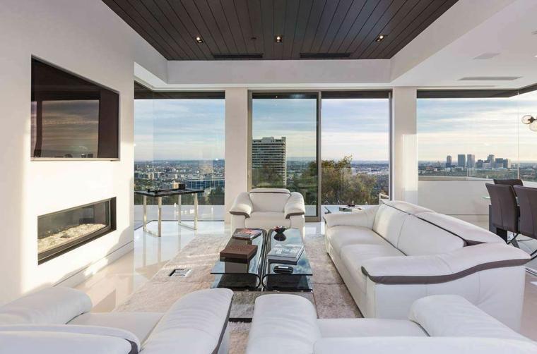 chambres à la décoration moderne et blanches