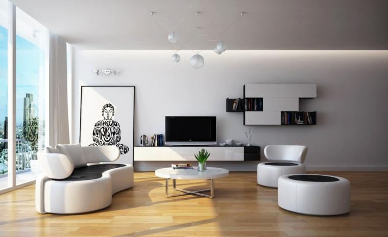 chambres modernes et minimalistes