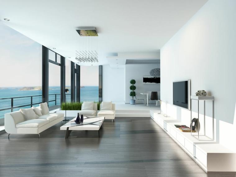 chambres modernes à grandes fenêtres