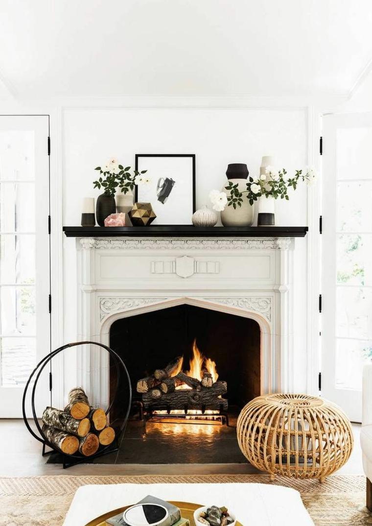 idées pour décorer la cheminée