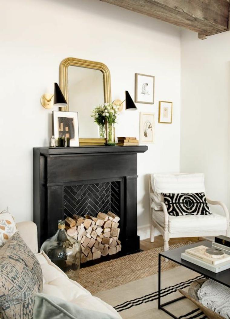 décorer la cheminée en automne