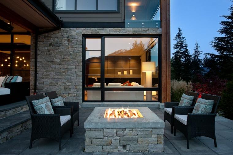 cheminée moderne