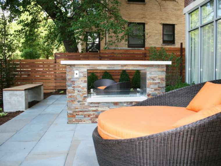 conception des cheminées dans le jardin