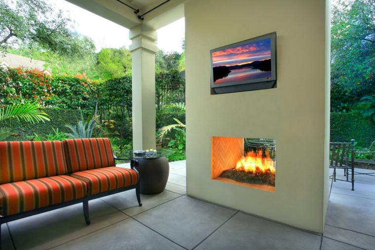 cheminées et barbecues de style moderne