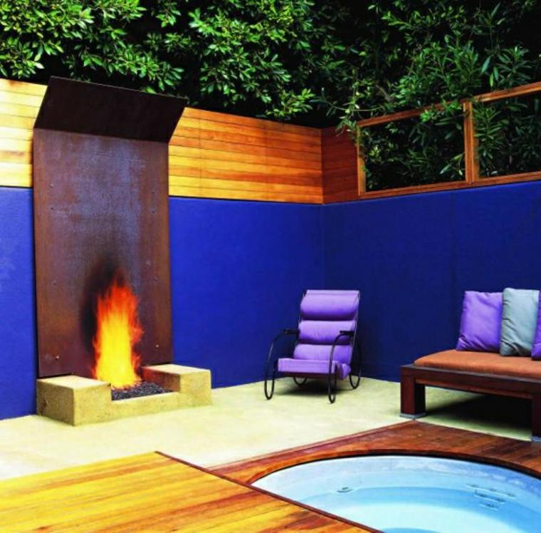 jardins avec cheminées extérieures