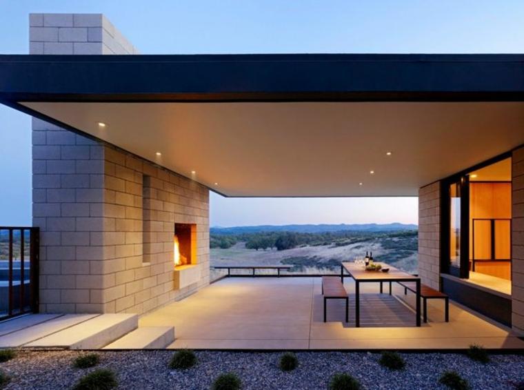 jardins avec cheminées modernes