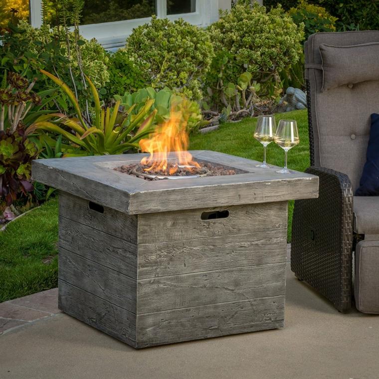 superbes conceptions de jardin avec des cheminées modernes