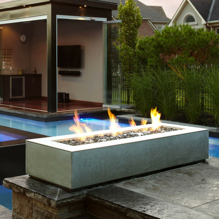 beaux dessins de jardins avec cheminées