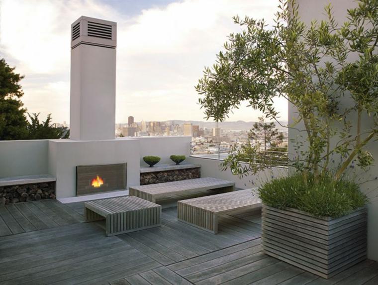motifs de jardin originaux avec cheminées