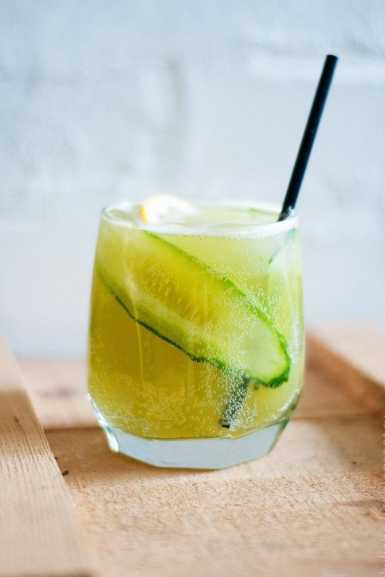 cocktails-sans-alcool-recettes-intéressant-limonade-concombre