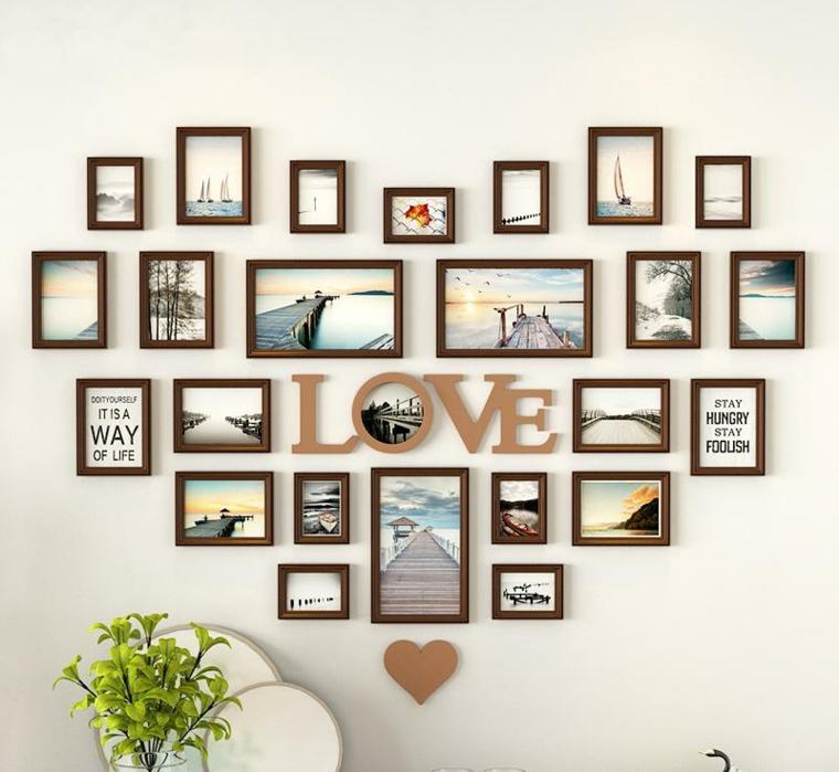 mur décoré avec photos