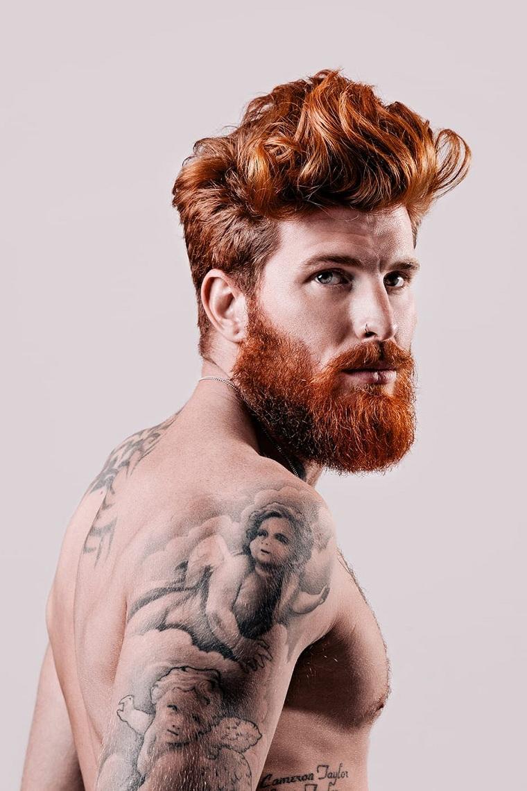 cheveux-long-barbe-couleur-original