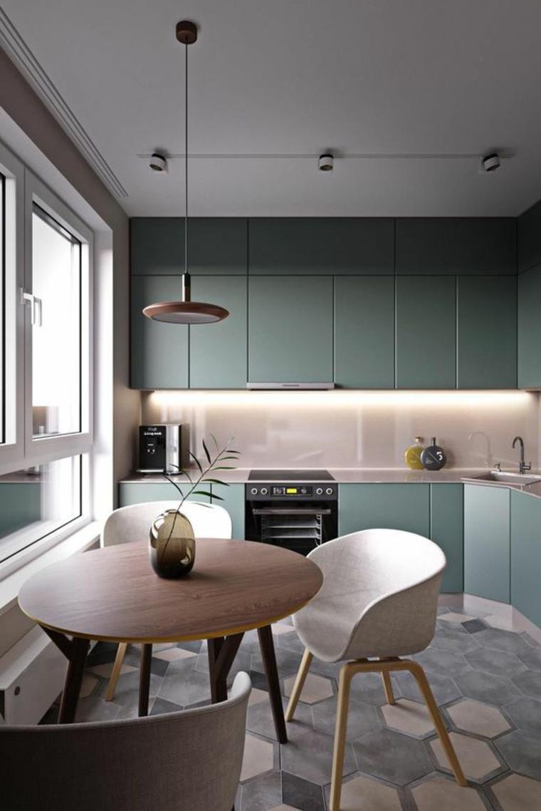 couleurs modernes de la cuisine