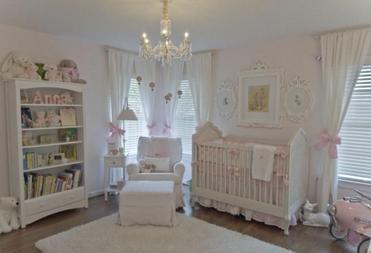 chambre bébé shabi-chic