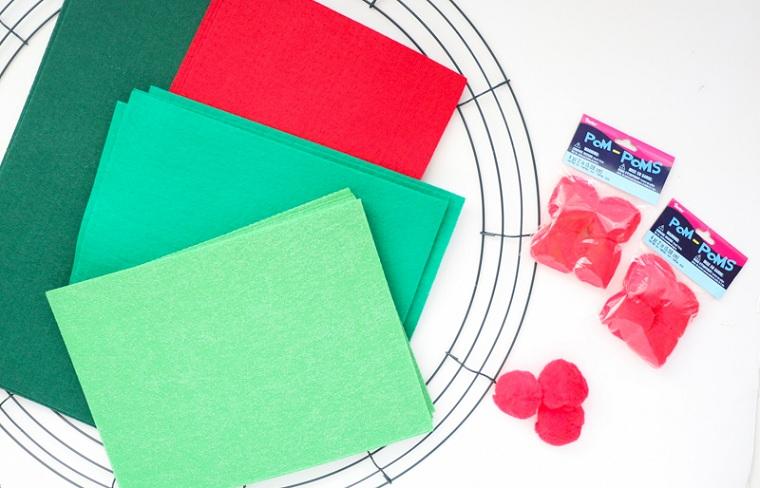 comment faire une guirlande de Noël - idées-artisanat