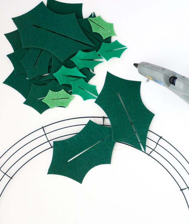 Comment faire une guirlande de Noël-idées-artisanat-idées
