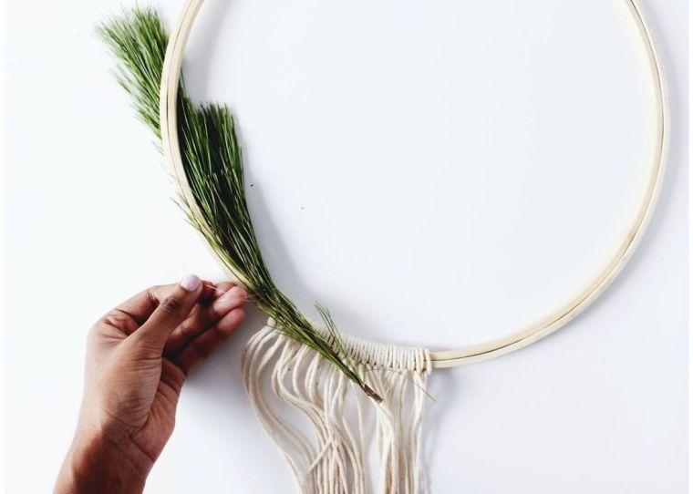 bricolage-couronne-noël-idées-style-scandinave-décorer