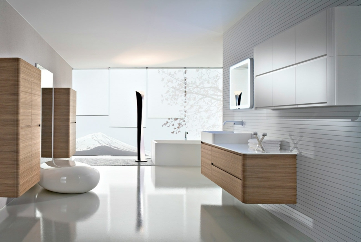 dessins de salle de bain couleurs claires
