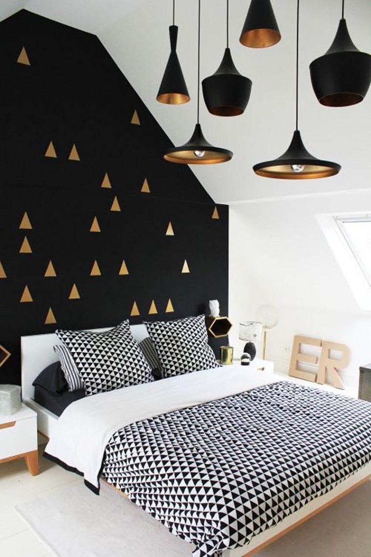 blanc-noir-combinaison-design-chambre