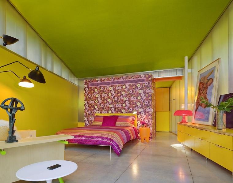 design-de-chambres-peint-couleurs vives