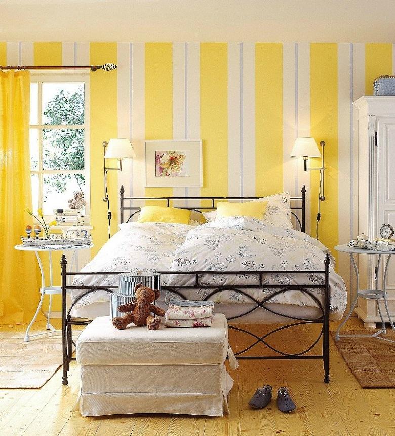 conception de chambres-peint-couleurs-lumière-blanc-jaune