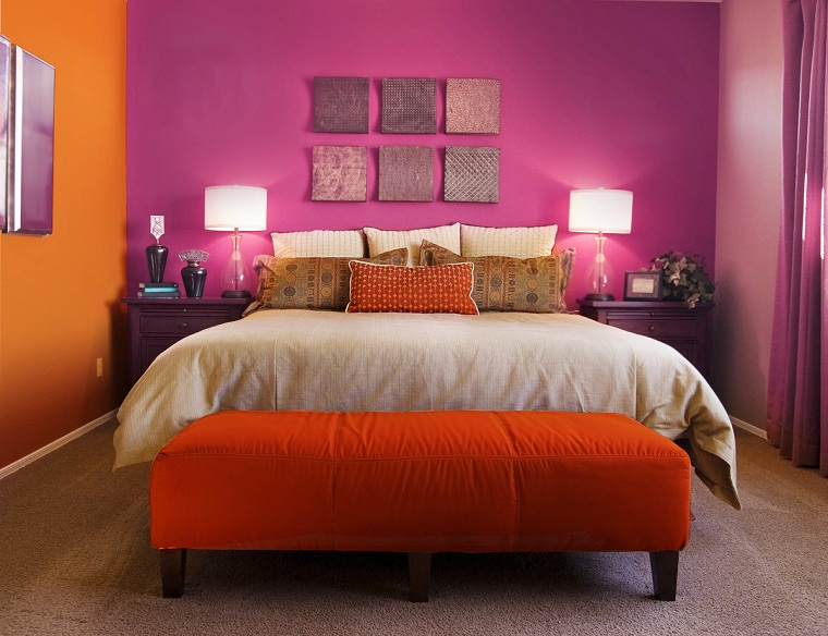 conception de chambres-peint-rose-orange