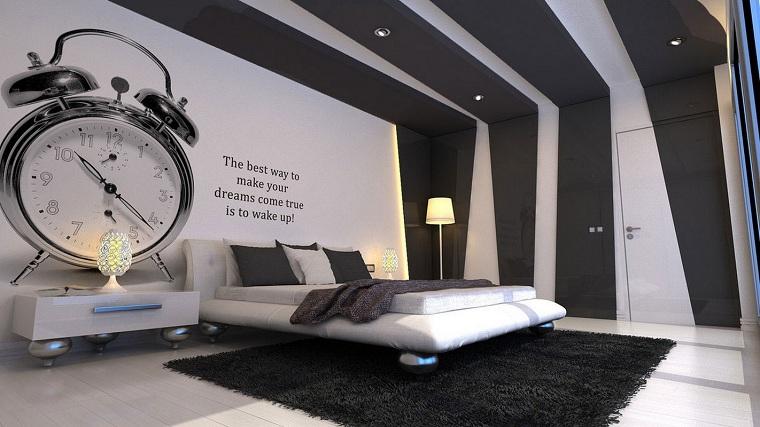 chambre-moderne-blanc-noir