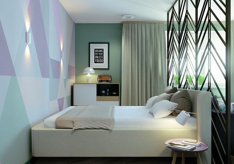 éléments géométriques-différentes-chambres-couleurs