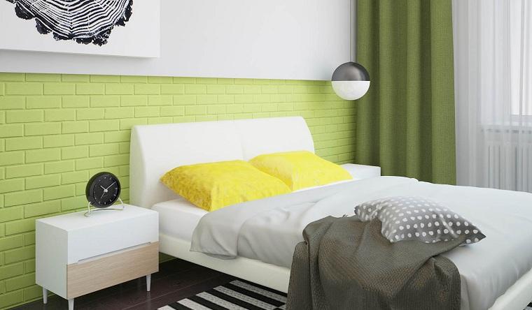 dalles-peint-couleur-vert-mur-blanc-chambre