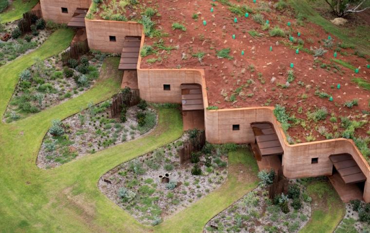 maisons en terre comprimée