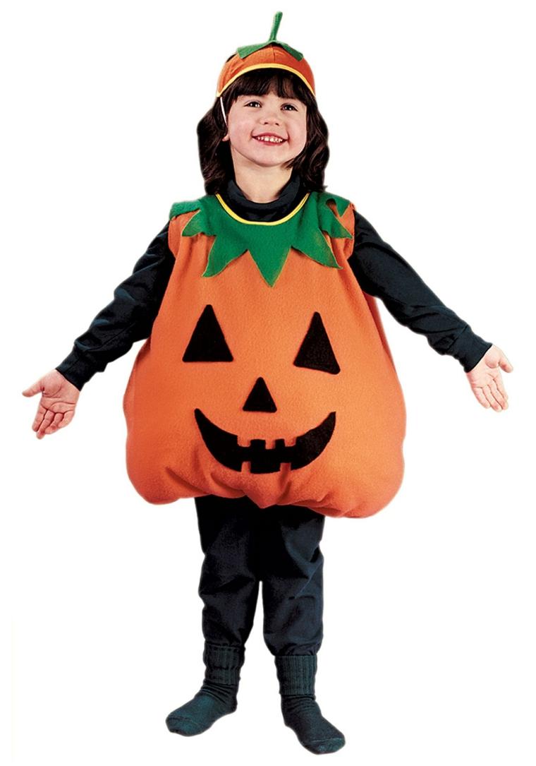 costumes dhalloween enfants-citrouille