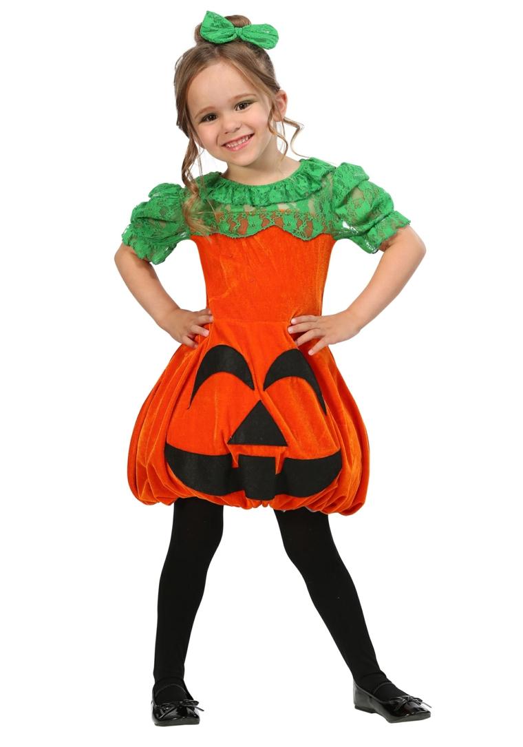 costumes dhalloween pour enfants-citrouille