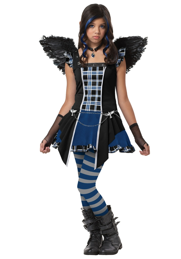 costumes pour Halloween ninas-mariposa