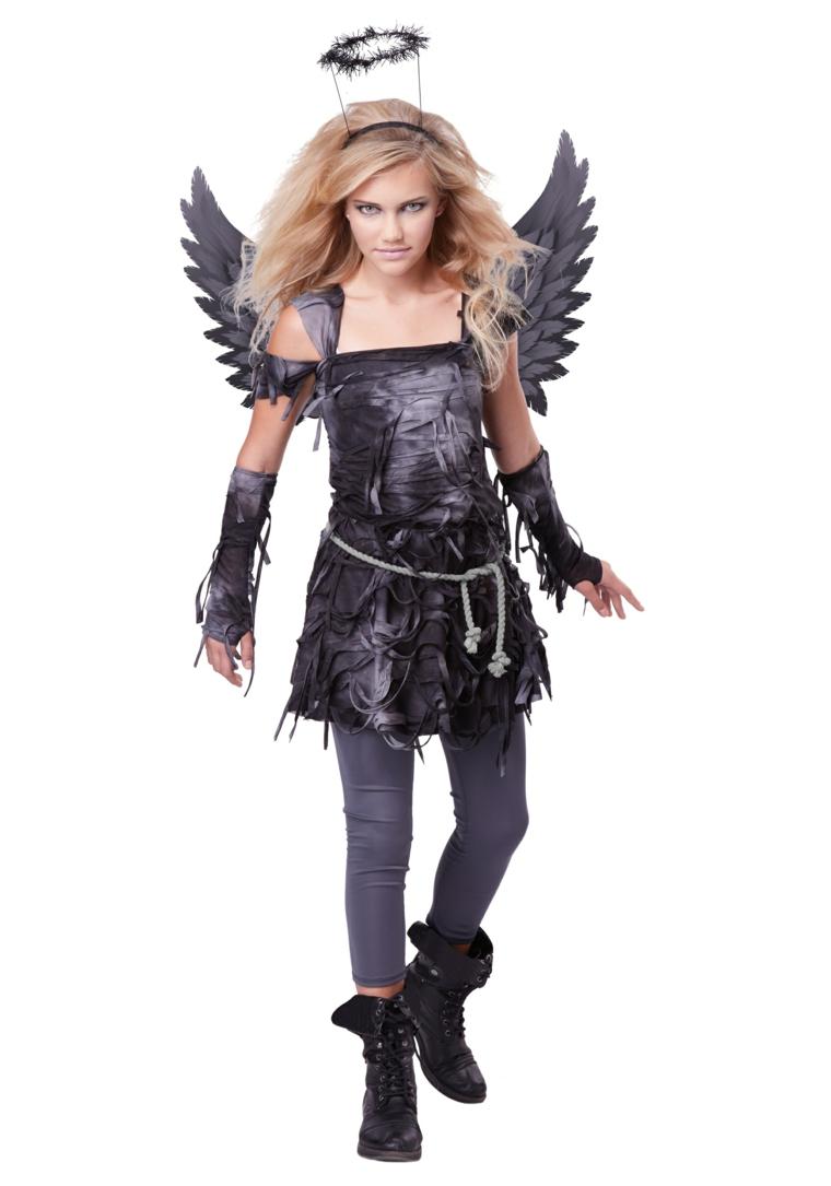 costumes dhalloween pour les filles-ange-tombé