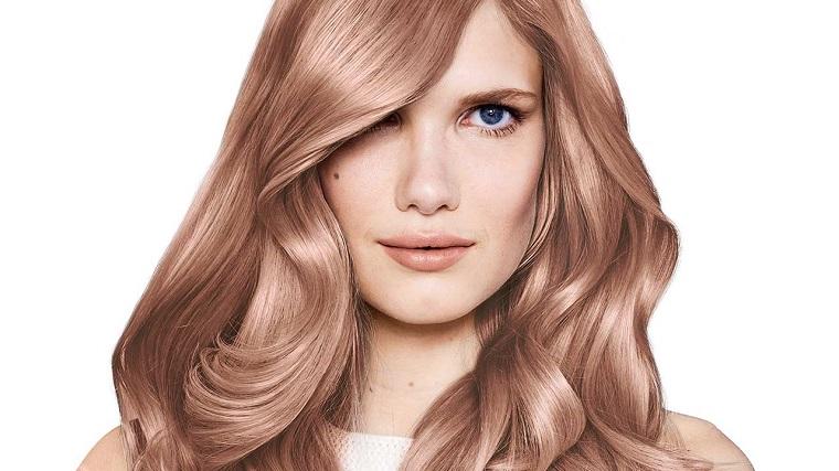 Couleurs de cheveux de la mode 2018-idées-rose-or