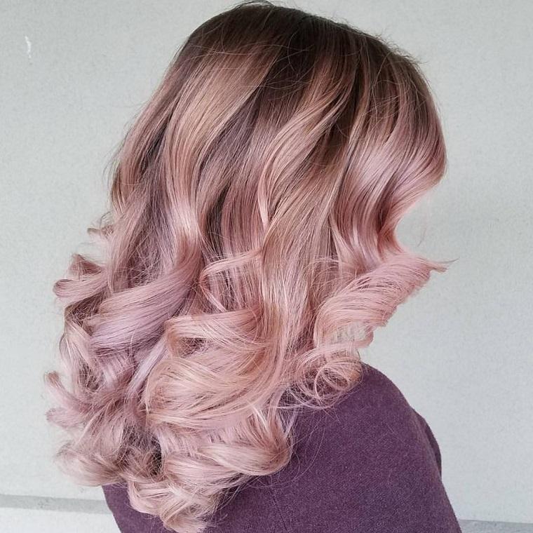 couleurs de cheveux pour la mode 2018-ideas-rosa-dorado-ideas-originale