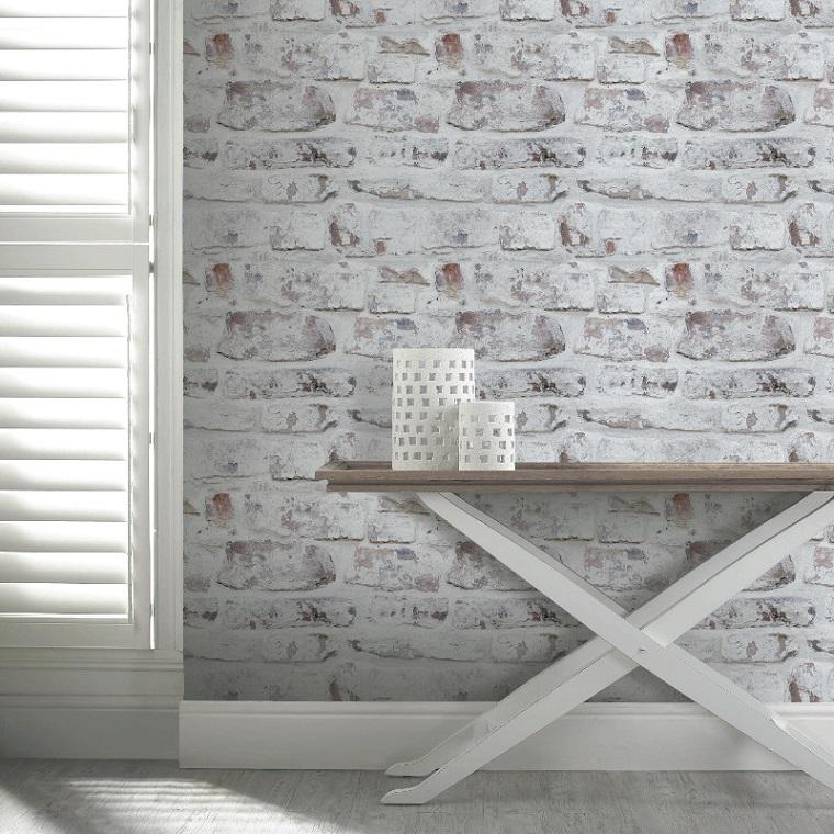 mobilier-contraste-briques blanches