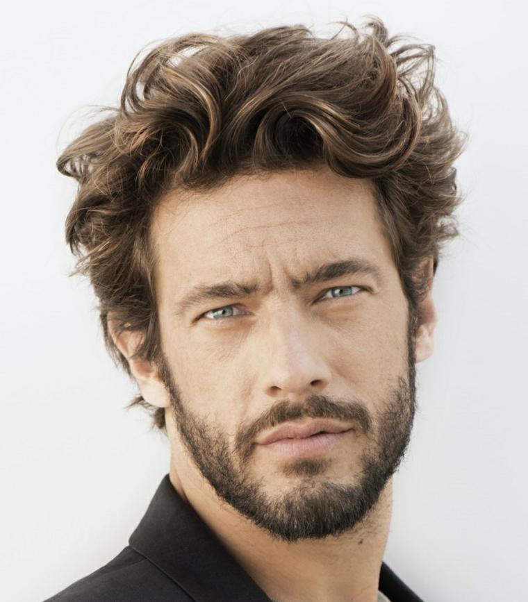 cheveux-remué-style-homme-naturel