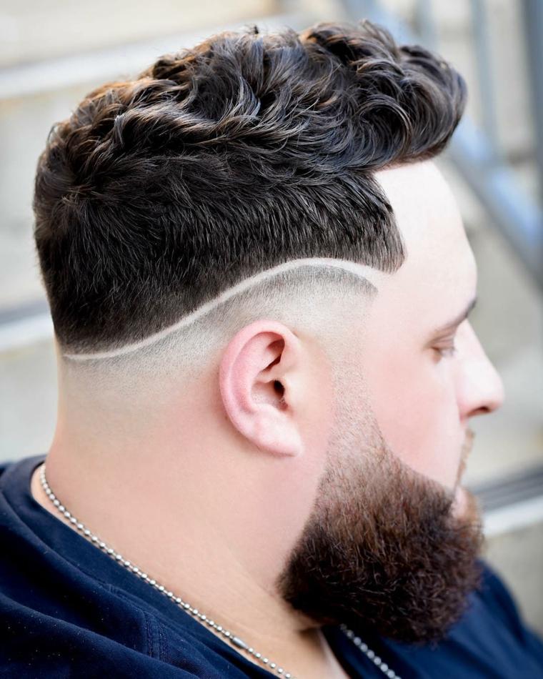 coupes de cheveux-homme-2019-courts-côtés-bouclés